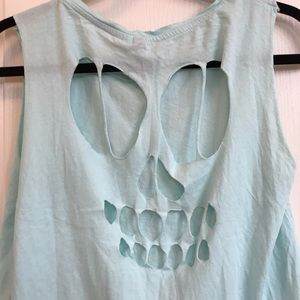 Skull cut-out tank top